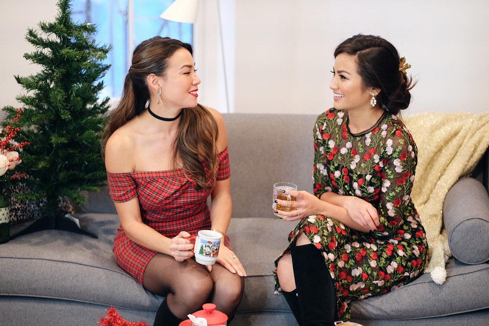 Caila Quinn & Sharleen Joynt Christmas Couch