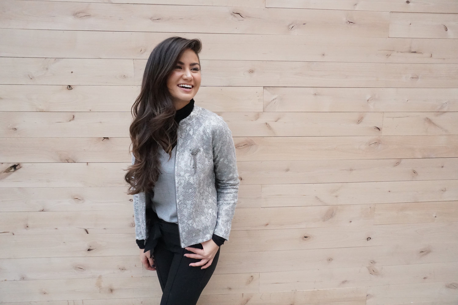 Topics tagged under withlovecaila on bachandbachettefans.net Banana+Republic+Gray+Sweater+Caila+Quinn?format=1500w