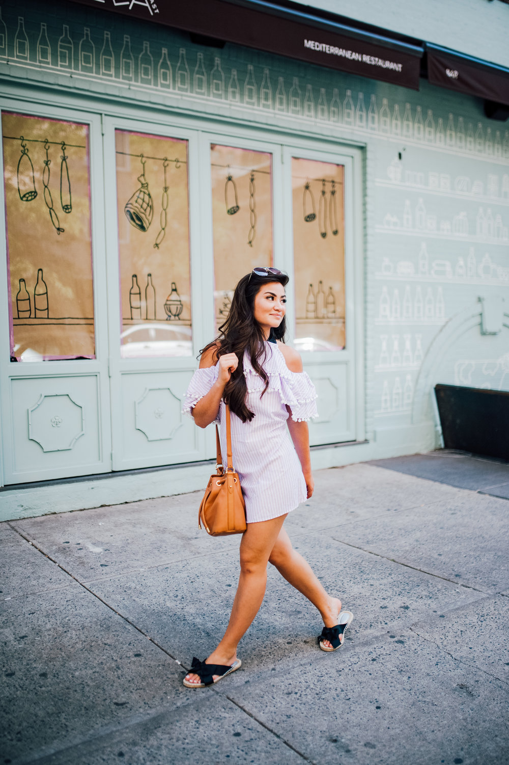 Caila Quinn in Lavender ASOS Summer Dress