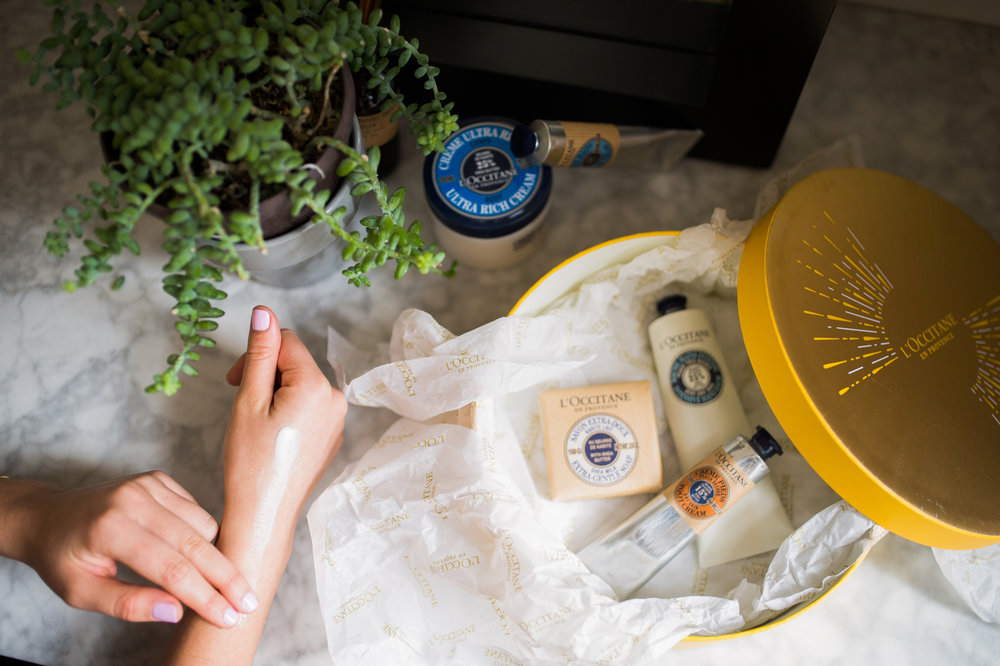 L'OCCITANE and UNICEF gift set with Caila Quinn