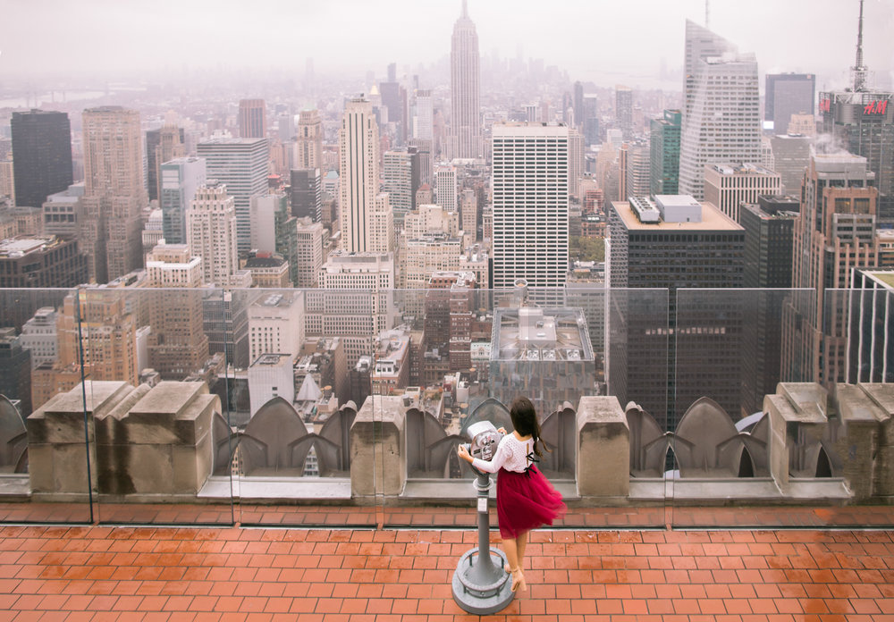 Top of The Rock, New York City with Caila Quinn