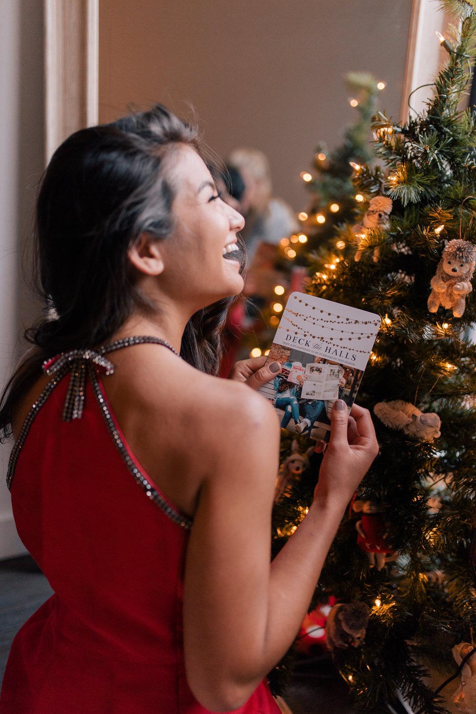 The Bachelor Caila Quinn New York City Mixbook Christmas Card with Boyfriend