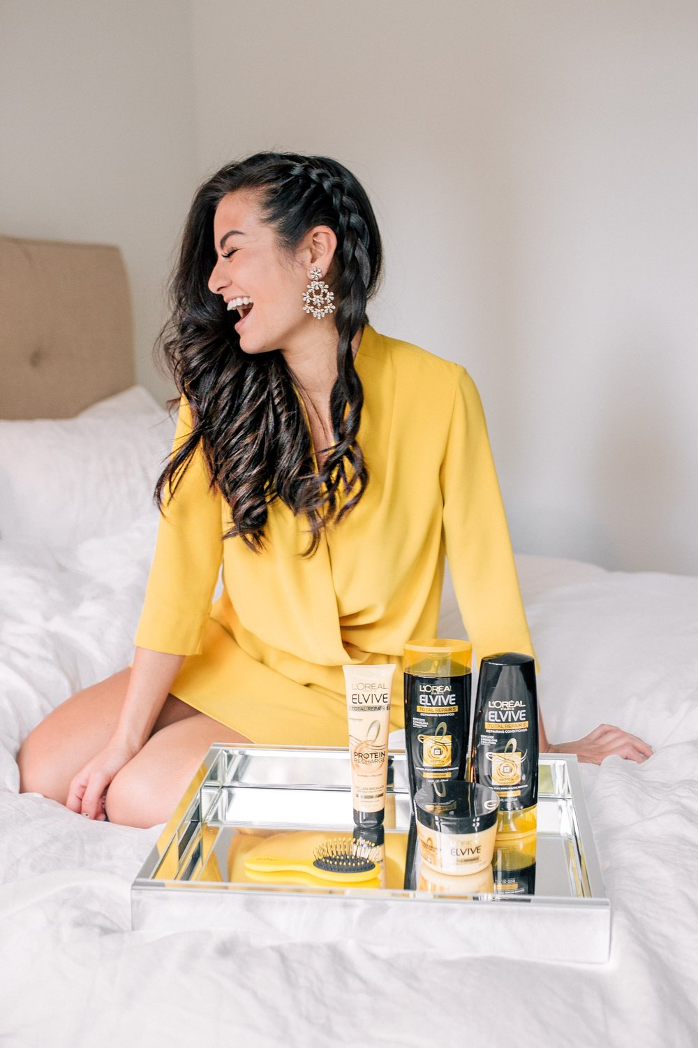 The Bachelor Caila Quinn Hair L'Oreal Elvive Shampoo and Conditioner