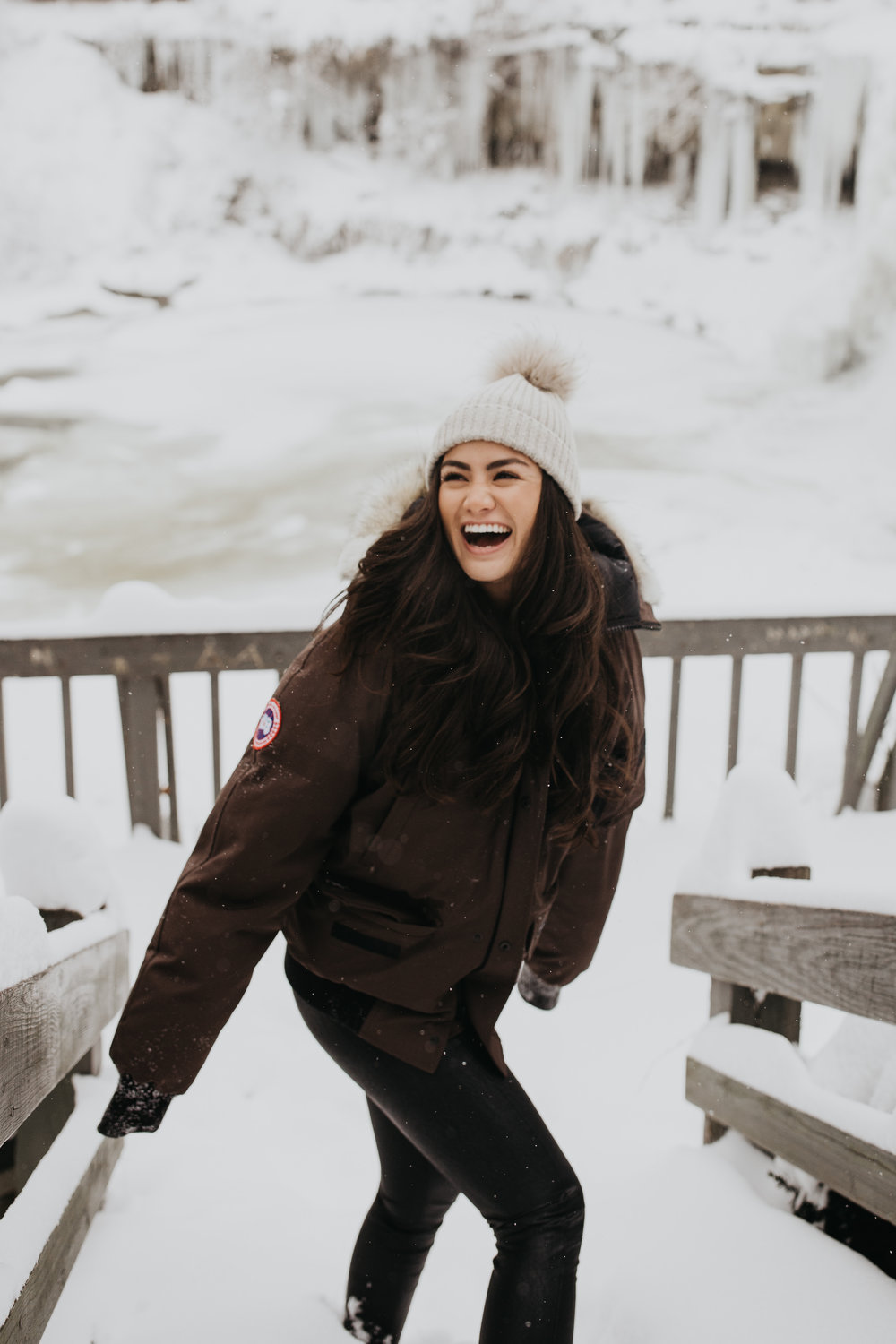 The Bachelor Caila Quinn Chagrin Falls Ohio Visit Winter Ice Waterfall