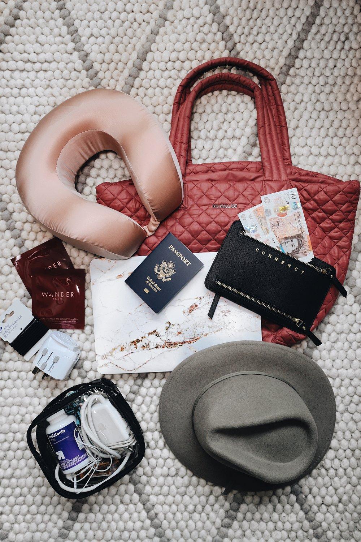 Caila Quinn The Bachelor Travel Blogger Carry on bag