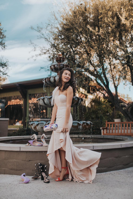 Caila Quinn the bachelor wedding season shoe selects Los Angeles California