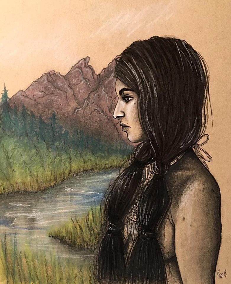 teton woman illustration
