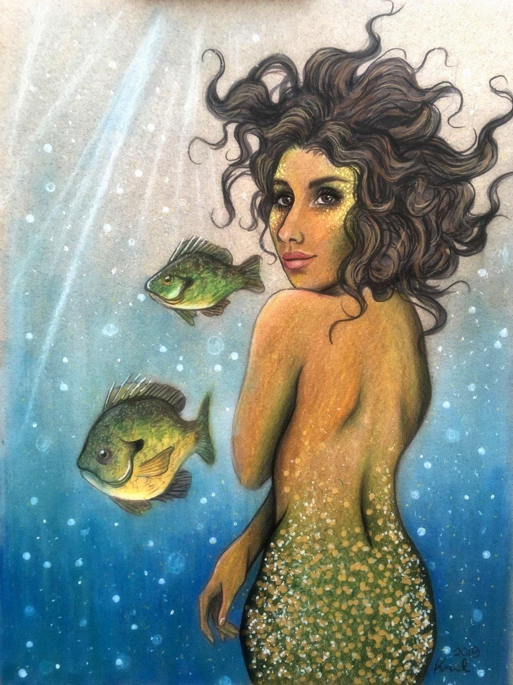 pumpkinseeds and mermaid