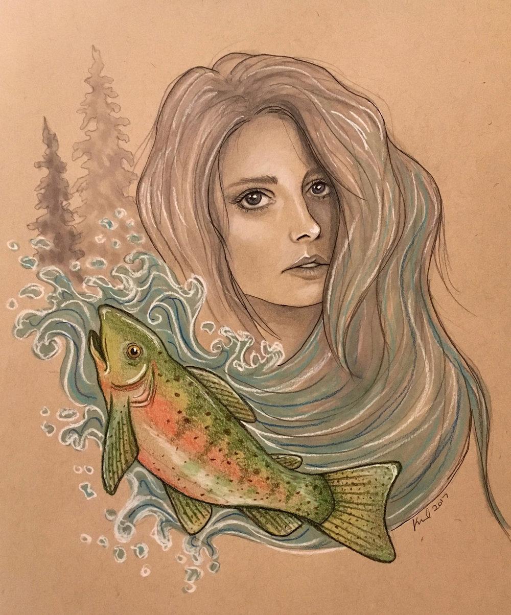 2017 lady yellowstone - trout
