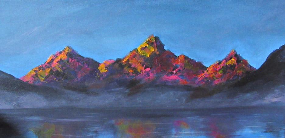 2017 sunset mountains