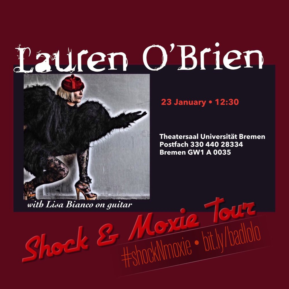 23 Jan Theatersaal Universitat Bremen Flyer L OBrien.jpg