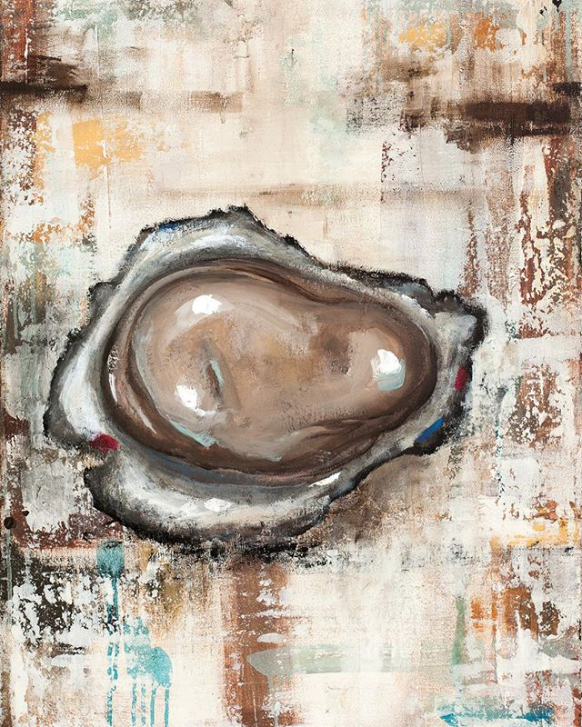 Oyster paintings that I have which are being sold as prints through Plum Gallery in St Augustine. #instaart #galleryartist #instagood #oysters #artwork #artforsale #texture #seafoodart #oysterart #staugustine #buylocalart