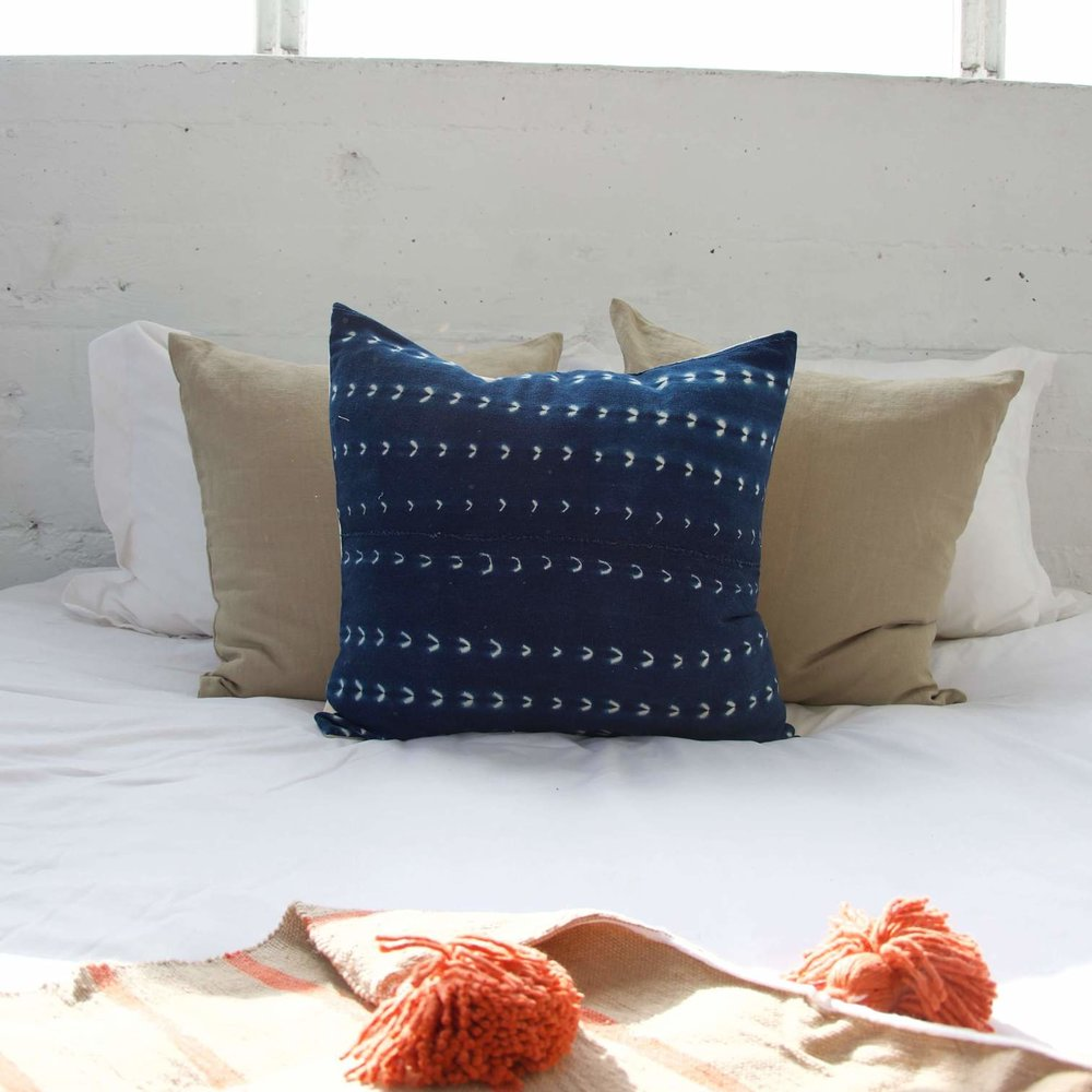 Indigo African Pillow $89.00