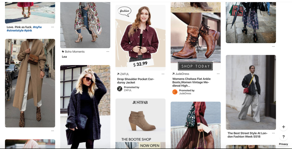 Zaful has created promoted pins with click through purchasing that aren't an eyesore for the feeds they appear in