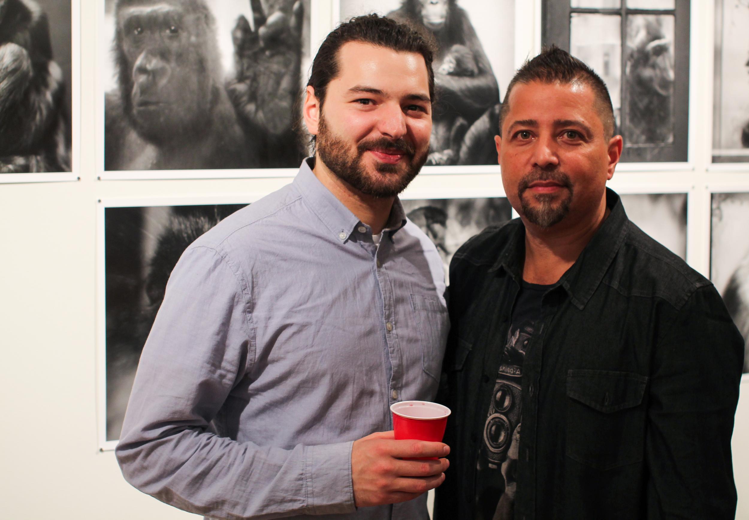 Jesse Cesario and curator Jorge Aberto Perez