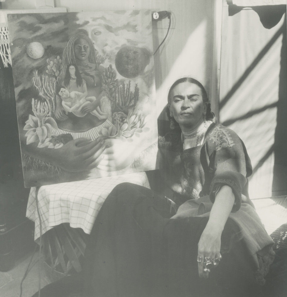 THROCKMORTON Frida Kahlo Gardens Frida by painting