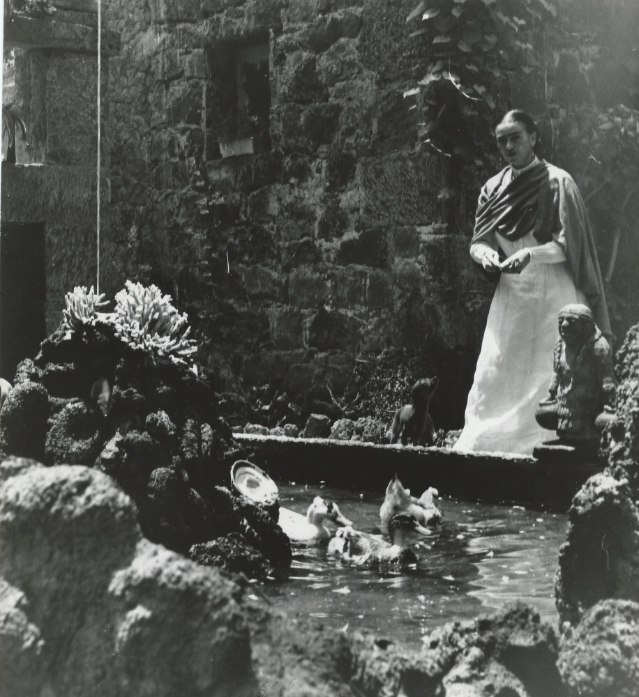THROCKMORTON photographer Gisele Freund shot Frida Kahlo at La Casa Azul
