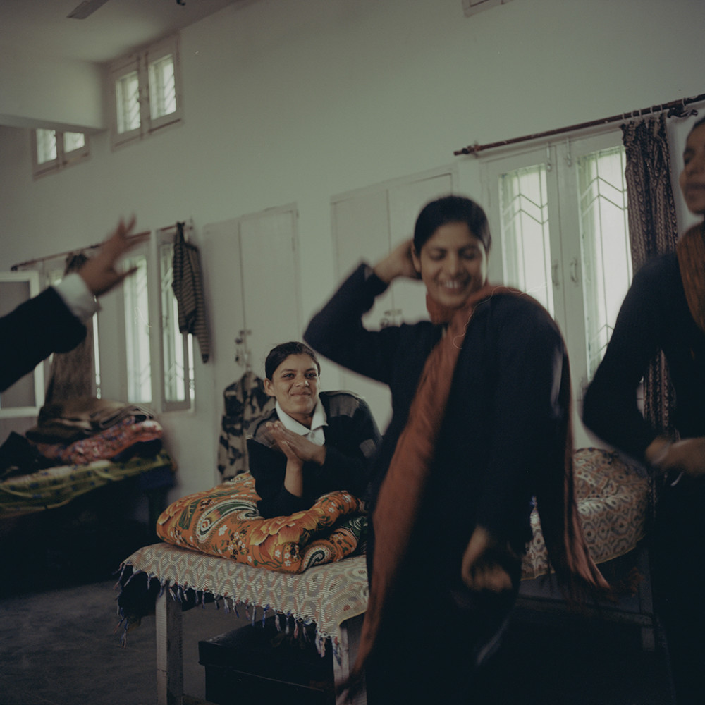 Dancing in the border barracks, Attari, January 2011