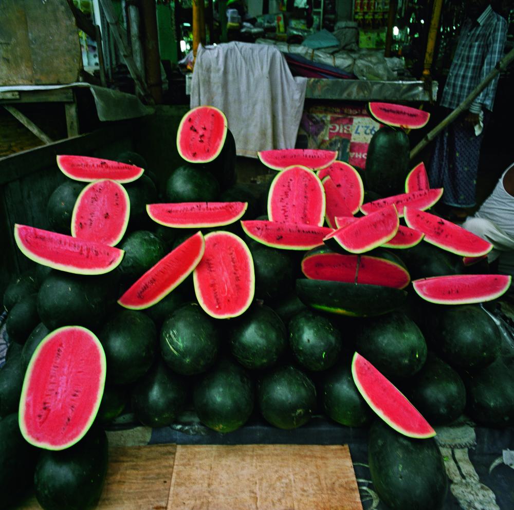 Patrick_Faigenbaum_Pastäques, dans le quartier de Rajabazar, Kolkata nord, juillet 2014