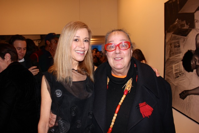 Paige Powell and the chief and editor of Paper Magazine Kim Hastreiter
