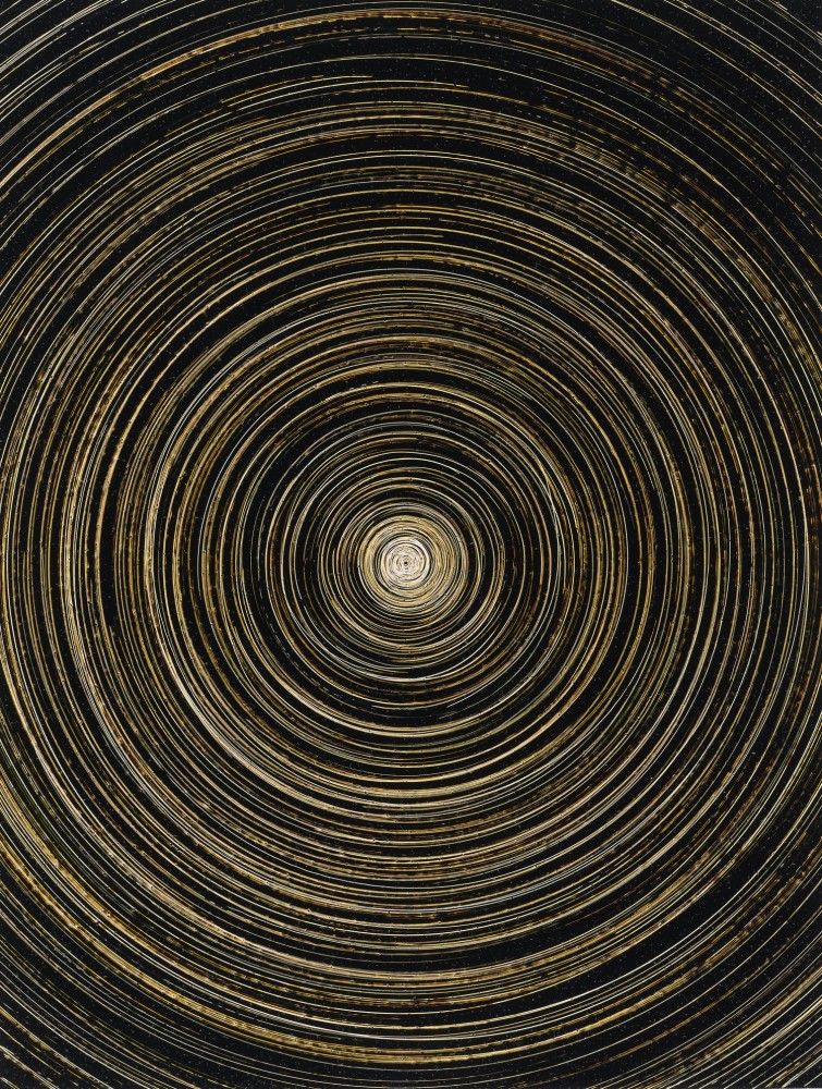 Marco Breuer.   Spin (C-827)  2008,Chromogenic paper, embossed and scratched, 13 13/16 x 10 1/2 inches, Collection of John A. MacMahon (Non-Morgan)