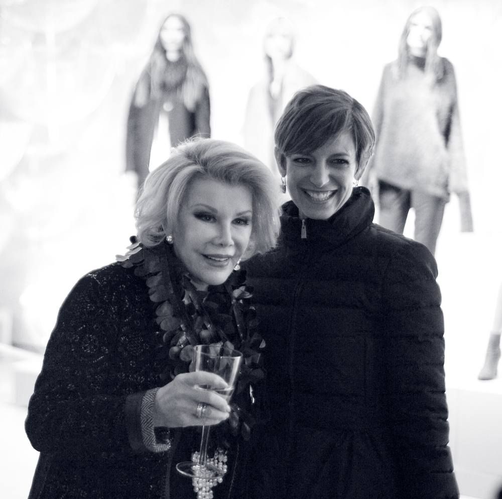TV-star and comedian Joan Rivers on Elie Tahari presentation