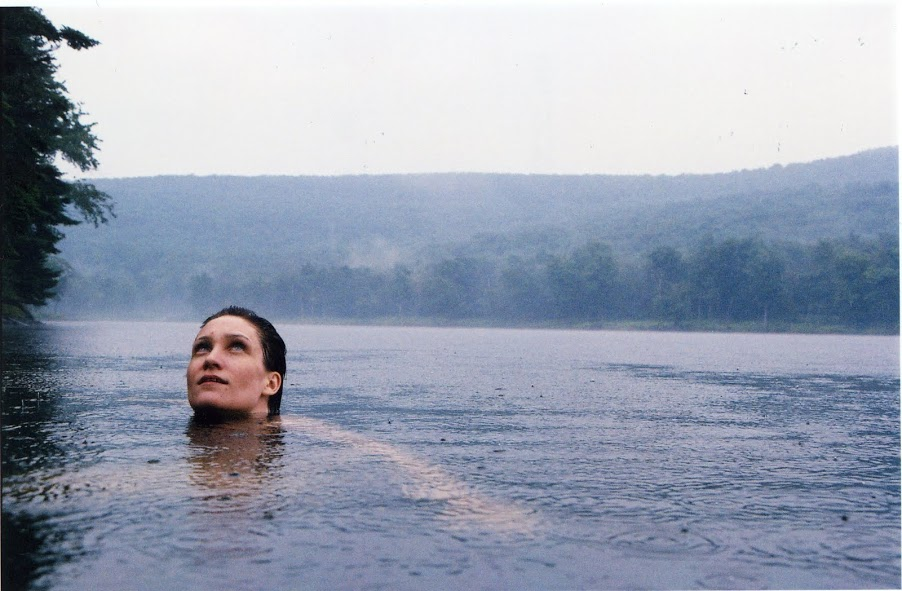 Sarah in the lake at the Zendo, upstate New York 2005 Courtesy Strange Loop Gallery