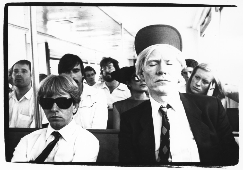 Andy Warhol with Rupert Smith, His Silkscreen Printer, on a Ferry to Fire Island 1979