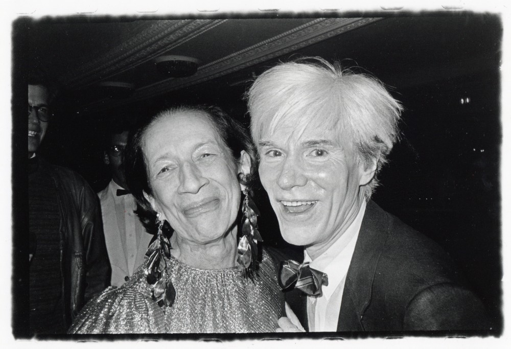 The Empress of Fashion and the Pope of Pop Andy Warhol and Former Vogue Editor-in-Chief Diana Vreeland Found Each Other Both Endearing and Annoying 1975