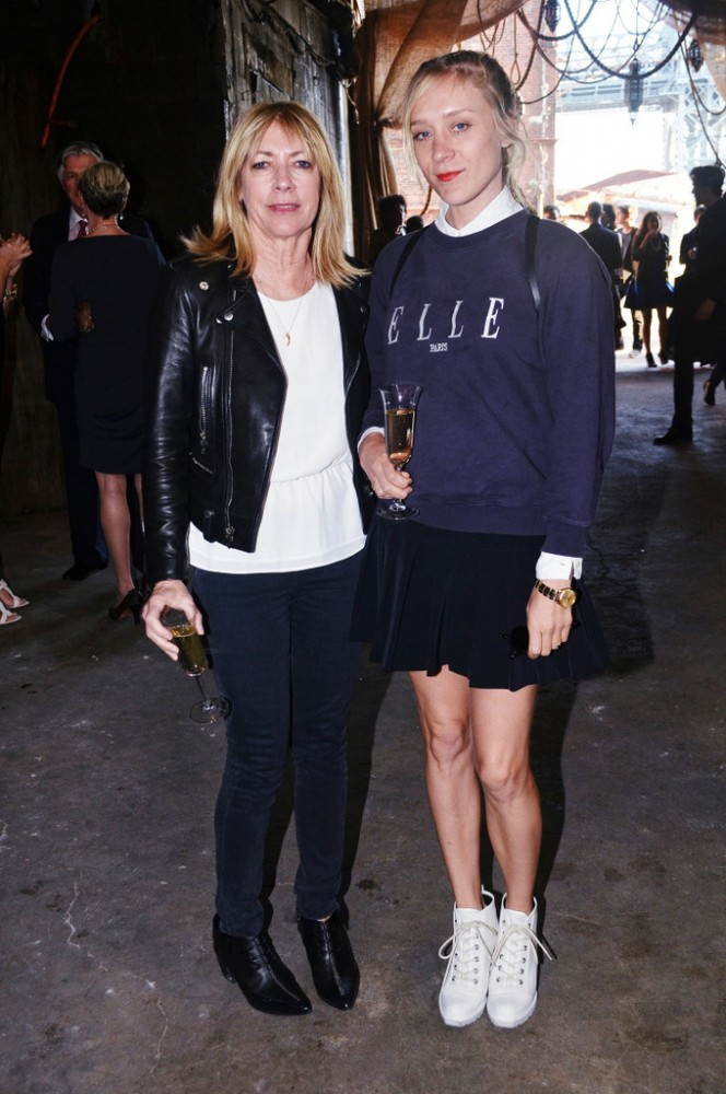 a Kim Gordon and Chloe Sevigny