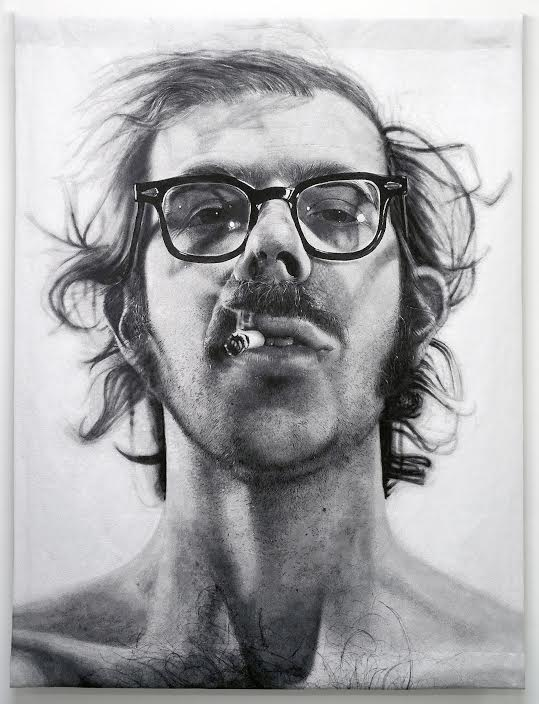 Chuck Close Self-portrait (with Sigarette) All uses approved including: © Chuck Close. Courtesy of the artist and Donald Farnsworth, Magnolia Editions, Oakland, CA.