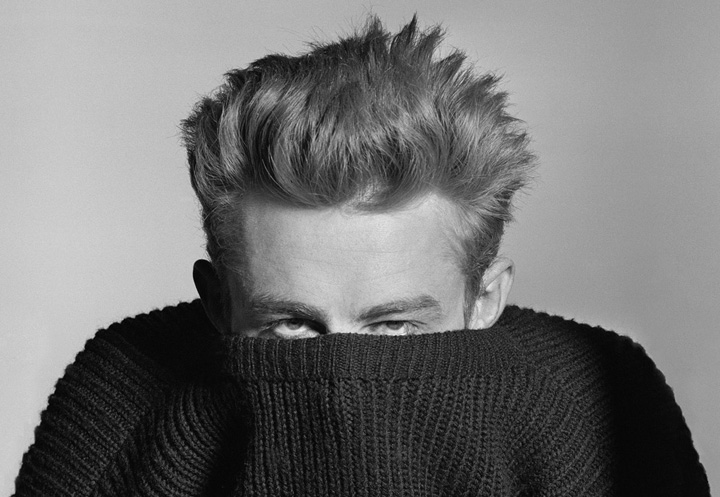 Phil Stern_ James Dean (Pull Over Sweater), 1955
