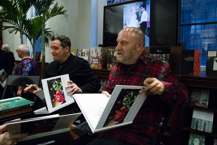 Image Above: ©Elizabeth Mealey, Isaac Mizrahi  (left) and Nick Waplington (right) at the Rizzoli Bookstore