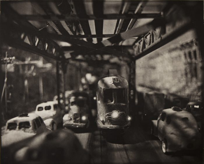 Image above: ©Lothar Osterburg, Under the El, 2011 Ed. 1/8 Photogravure on Somerset Soft White
