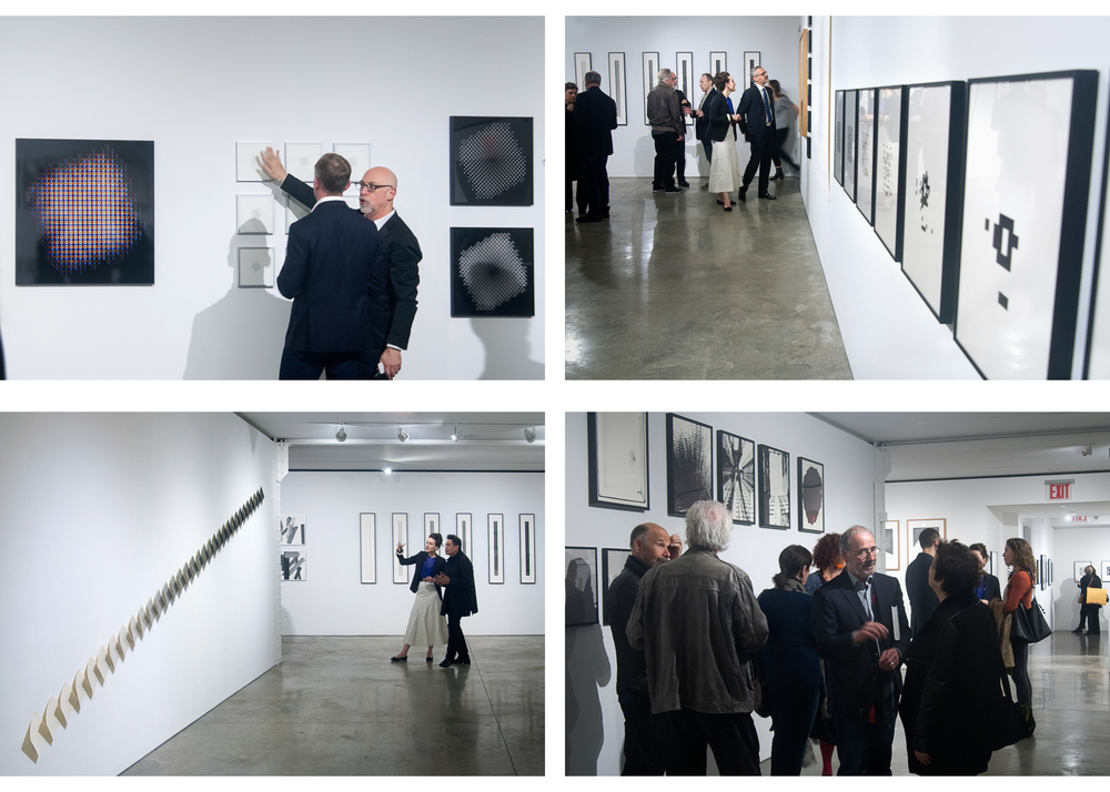 Image above: ©Sang Ha Park, Opening Night, Top left: Steven Kasher, Bottom right: Artist facing camer
