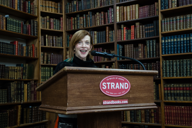 Image above: ©Elizabeth Mealey, Susan Orlean at Strand Bookstore, 2016