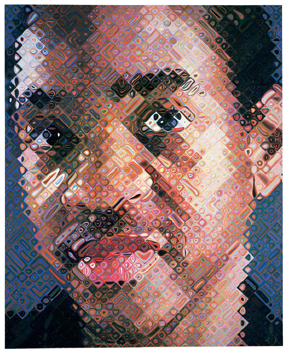 Image above: Lyle, 1999. Oil on canvas. Whitney Museum of American Art; Gift of The American Contemporary Art Foundation, Inc., Leonard A. Lauder, President. © Chuck Close, courtesy Pace Gallery