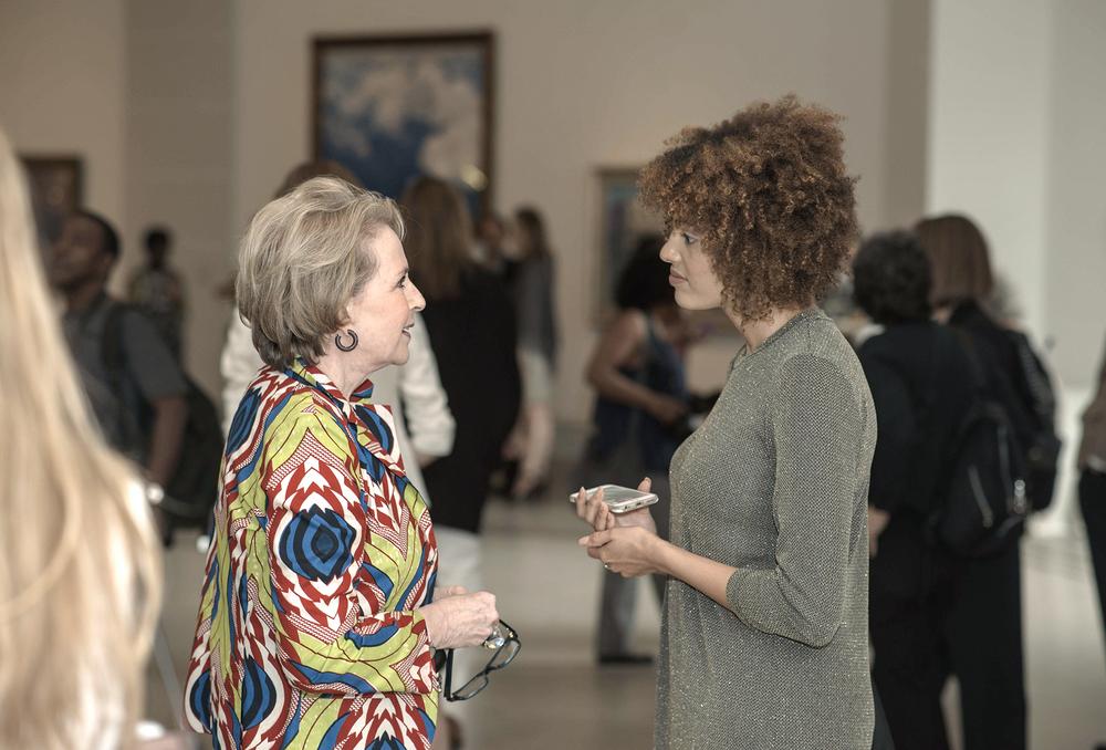 Elizabeth Sackler & Guest;Photograph ©Malcolm D. Anderson
