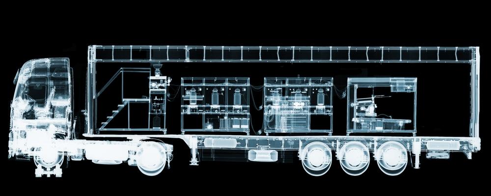 Wim Delvoye.Cloaca x-rayed truck (Black), 2000.