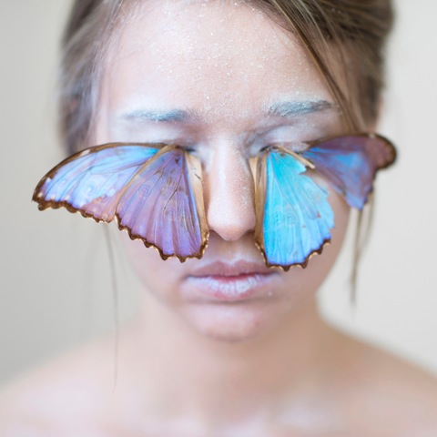 "Kristen Hatgi, ""Blue Butterfly Lashes,""Pigment Print , 2015"