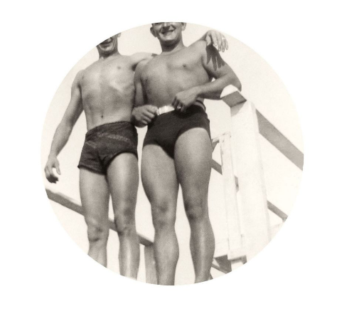 "Kris Sanford:Bathing Suits, 2015. Archival inkjet print. 6"" image on 10"" paper"