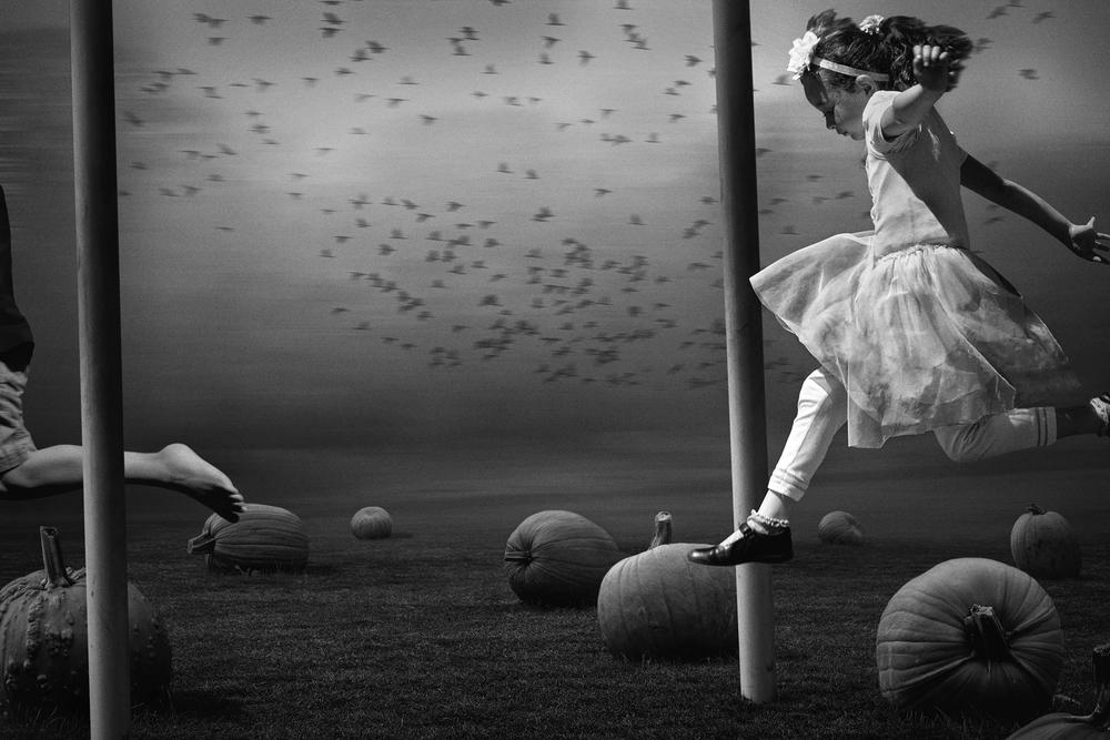 Jumping Over Pumpkins © Deb Young + Francisco Diaz