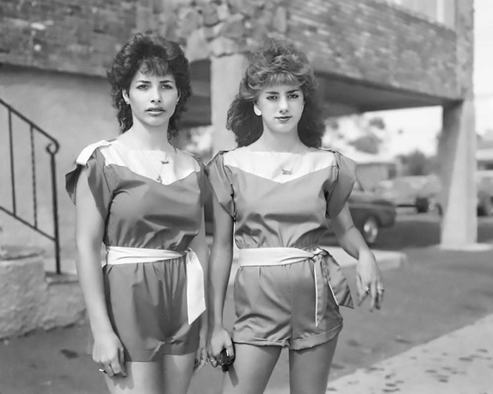 Christine Osinski, Two Girls with Matching Outfits.