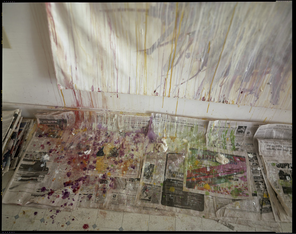 SALLY MANN, Remembered Light, Untitled (Drips and Newspaper), 1999, Inkjet print, 8 x 10 inches (20.3 x 25.4 cm), Edition of 3. © Sally Mann. Courtesy Gagosian Gallery.