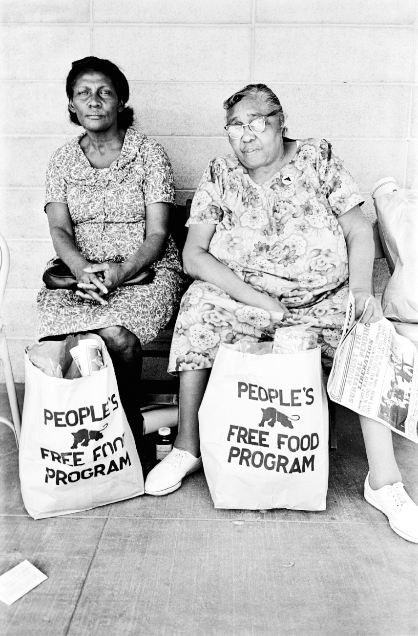 Image Above: People's Free Food Program, Palo Alto, 1972. All images: Stephen Shames, Courtesy of Steven Kasher Gallery