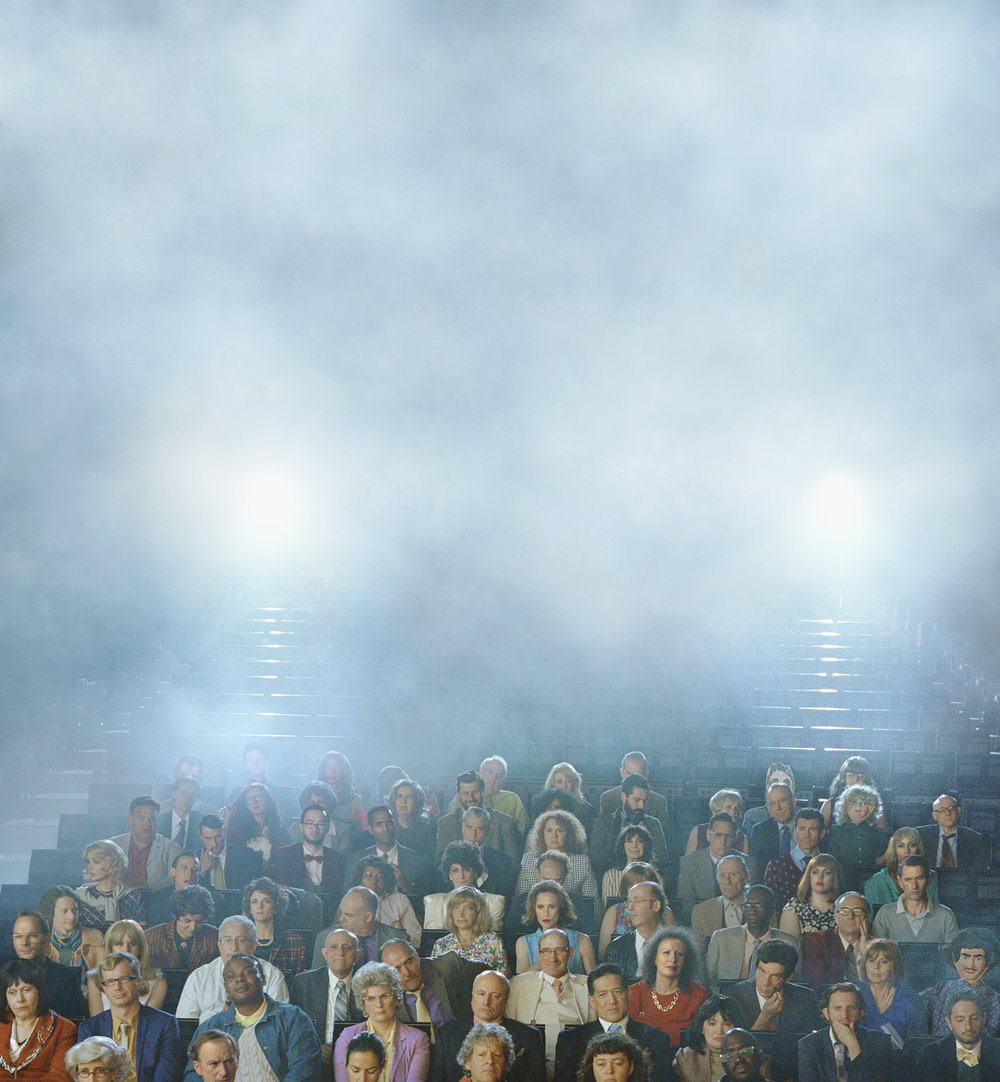 ALEX PRAGER Orchestra Center (Stage), 2016 archival pigment print 52 x 48 inches 132.1 x 121.9 cm Courtesy the artist and Lehmann Maupin, New York and Hong Kong.