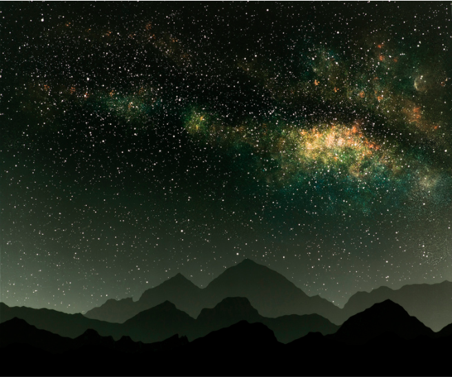 ©Vanessa Marsh,Falling exhibition, Mountains 12,20x24 / Chromogenic Photogram / 2015