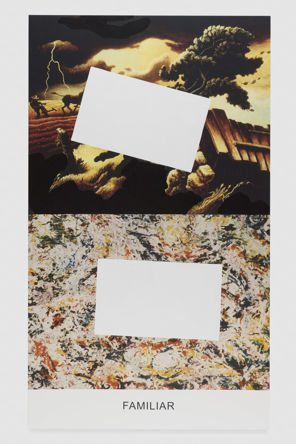 Pollock/Benton: Familiar, 2016. Photo credit: Joshua White, all images are courtesy of John Baldessari and the Marian Goodman Gallery
