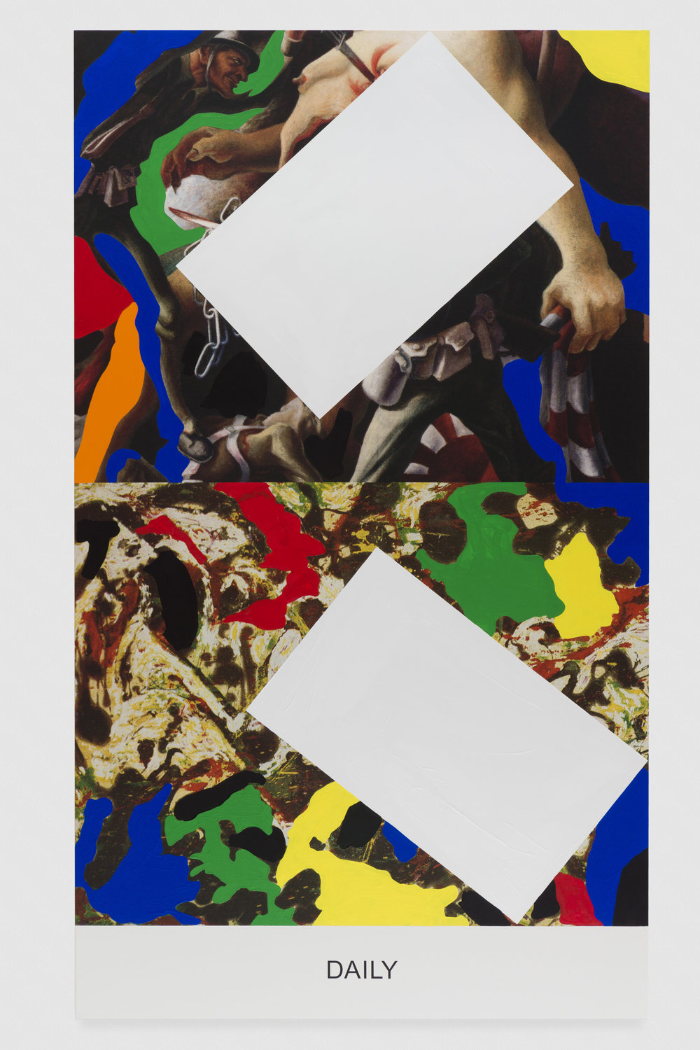 Pollock/Benton: Daily, 2016. Photo credit: Joshua White, all images are courtesy of John Baldessari and the Marian Goodman Gallery