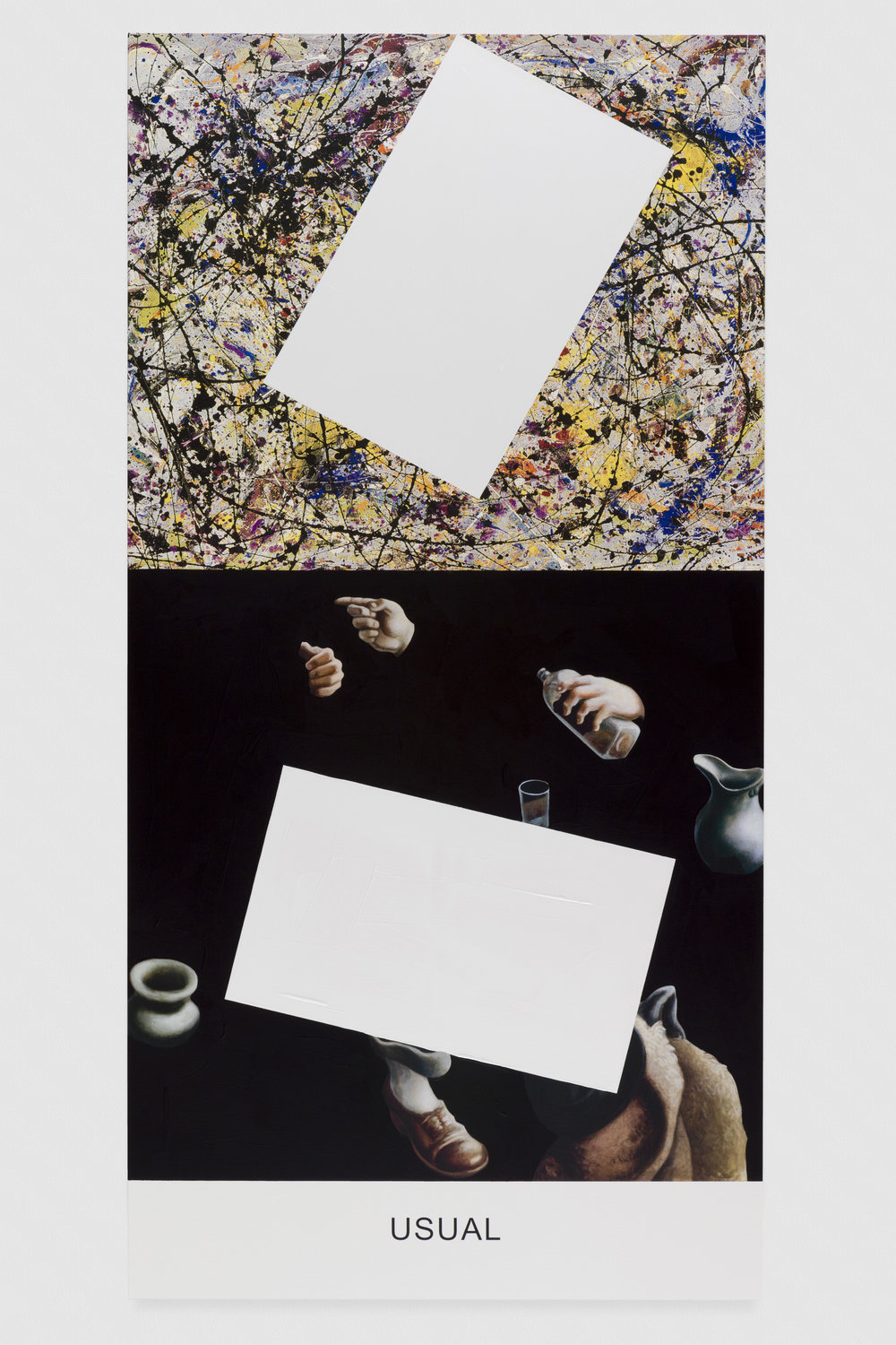 Pollock/Benton: Usual, 2016. Photo credit: Joshua White, all images are courtesy of John Baldessari and the Marian Goodman Gallery